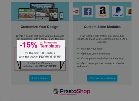 Prestashop addons promo code